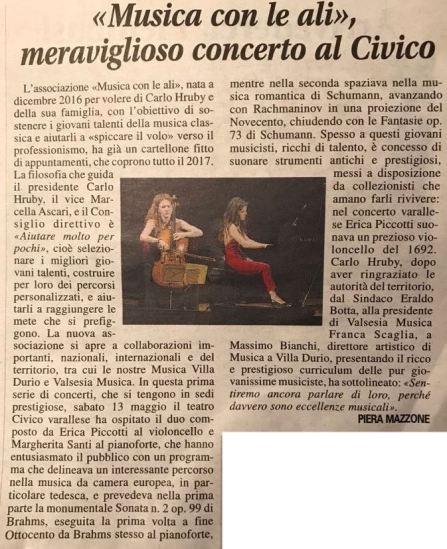 Concerto al Teatro Civico di Varallo